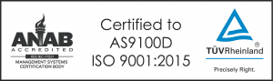 Certified to AS9100D ISO 9001:2015
